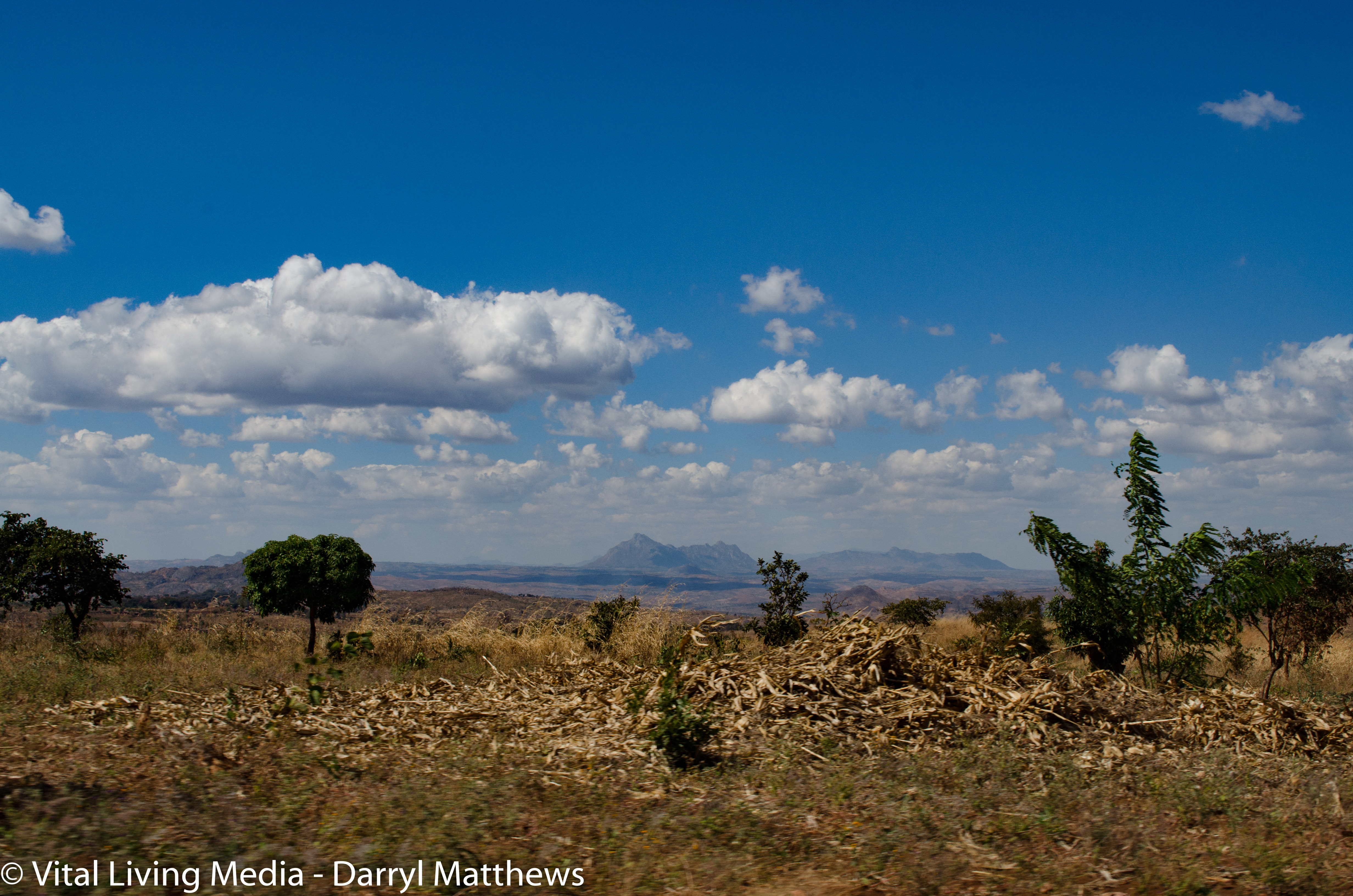 Chiwamba Landscape w/Mountains In Background